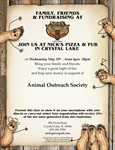 Nick's Pizza for Animal Outreach