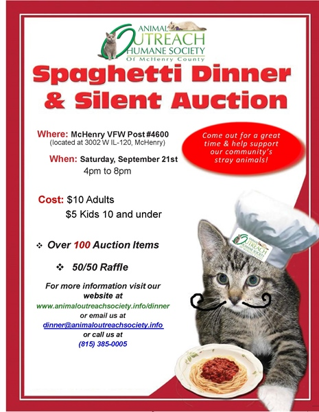 Spaghetti Dinner and Silent Auction